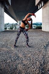 Urban woman athlete