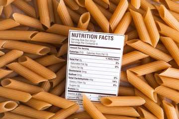 Nutrition facts of Brown Rice Pasta