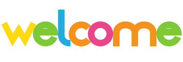 welcome colorful vector letter banner