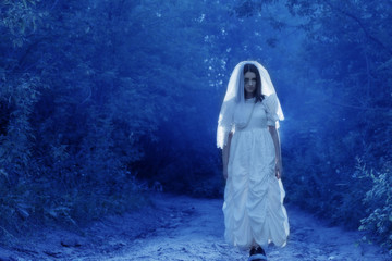 bride's ghost in the night forest