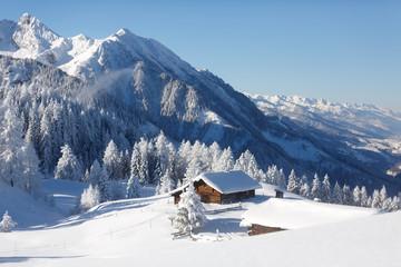 Fototapete - Wintermärchen in den Alpen