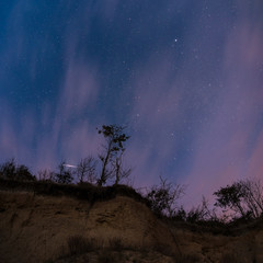 Sterne über der Steilküste auf Insel Poel, Mecklenburg-Vorpommern