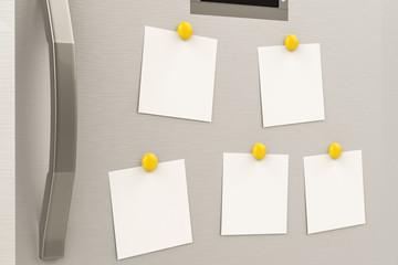 empty notes on refrigerator