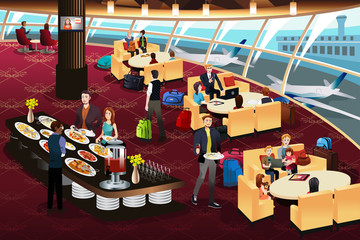 Airport Lounge Scene