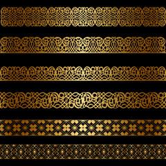 Set of gold borders