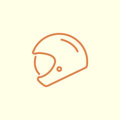 bike helmet line icon