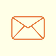 mail letter line icon
