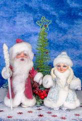 Santa and beautiful Christmas toys/