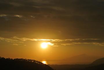 tramonto sul mare, sestri levante
