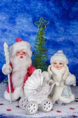 Santa and beautiful Christmas toys.