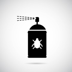 Spray icon on gray background. Vector art.