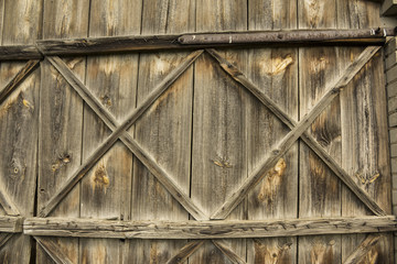Fragment of wooden gate.