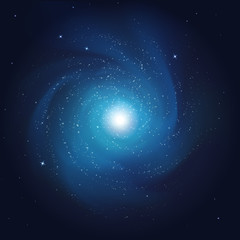 vector illustration. abstract cosmos background. galaxy with the stars in space.