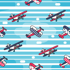 Vector seamless pattern in retro style.