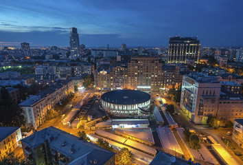 Fototapete - Kiev City - the Capital of Ukraine. Night View