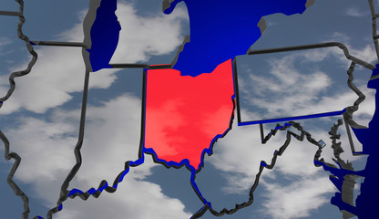 Ohio Map Clouds USA United States America Environment Climate Ch