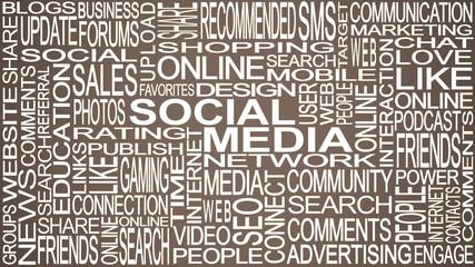 Social media theme. Social media words concept.