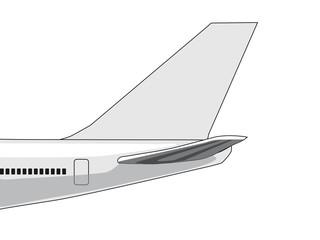 Flugzeug-Leitwerk
