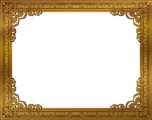 frame design. Beautiful Design Gold Photo Frame With Corner Line Floral For Picture Vector Design  Decoration Pattern Style Intended Frame Design