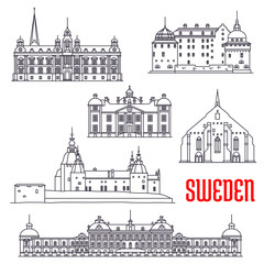 Historic buildings and sightseeings of Sweden