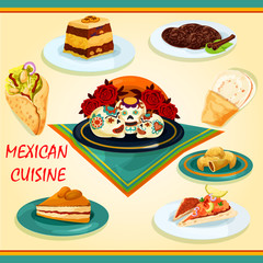 Mexican cuisine sandwiches and desserts icon
