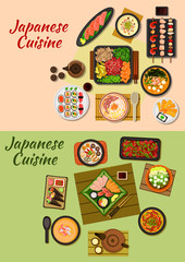 Japanese cuisine seafood dinners icon