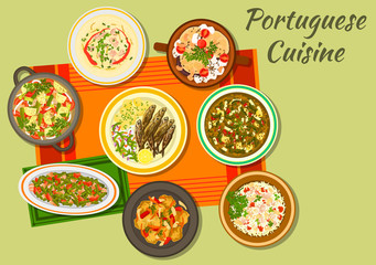 Portuguese cuisine icon for food design