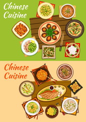 Chinese cuisine icon of signature oriental dishes