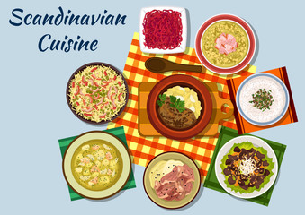 Scandinavian cuisine traditional lunch dishes