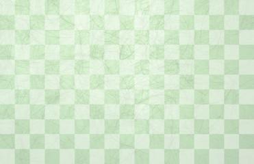 市松模様和紙-緑