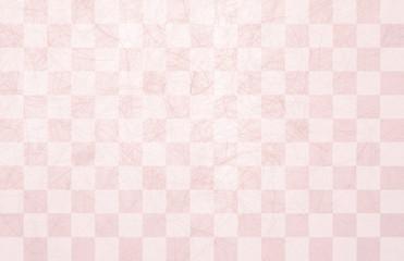 市松模様和紙-桜色
