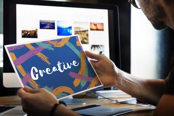 Artist Ideas Creative Imagine Word Concept