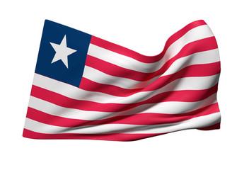 Liberia flag waving
