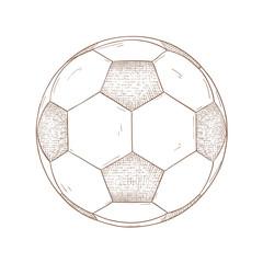 Soccer ball. Hand drawn sketch