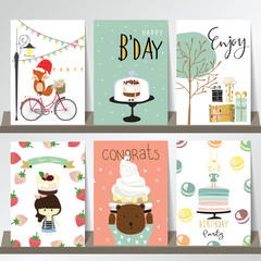 Colorful collection for banners,Flyers,Placards with fox,gift,ca