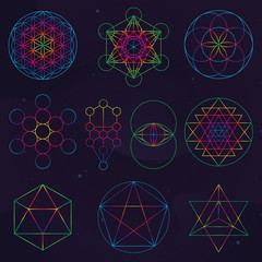 Wall Mural - Classical Sacred Geometry Symbols