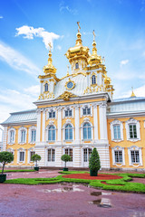 Church of Peterhof palace, St Petersburg, Russia