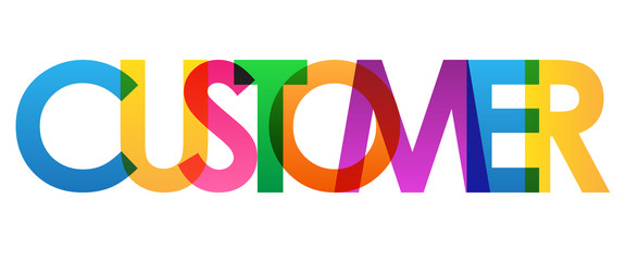 CUSTOMER colourful vector letters icon