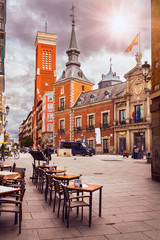 Old square in Madrid. Spain