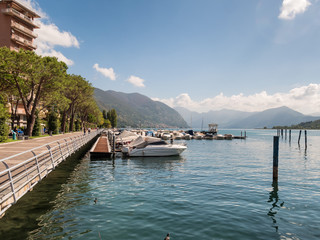 Sarnico at the lakeside of lake Iseo in Italy
