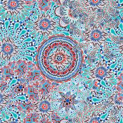Seamless Colored Ornate Pattern