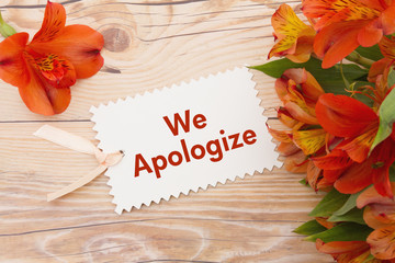 We Apologize Message