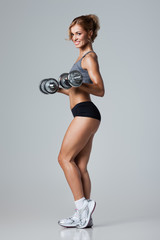 Fitness with dumbbells