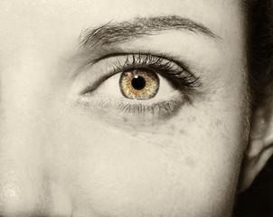 Beautiful insightful look vintage woman's eye