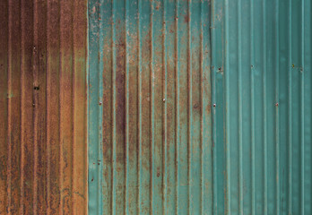 Rusty metal wall background