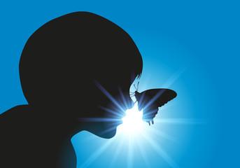 Enfant - Papillon - Douceur
