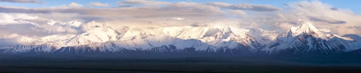 Panoramic view of Pamir mountain