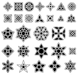 25+ Celtic knots collection (Triquetra (Trinity) knot, Quaternary knot, etc.)