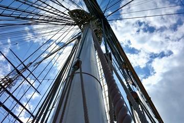 Historic sailboat mast