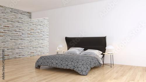 Camera da letto con parquet\